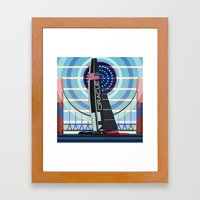 Never Give Up ! Oracle Team USA America's Cup Framed Art Print