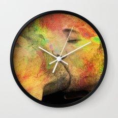 gay kiss Wall Clock