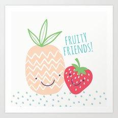 FRUITY FRIENDS Art Print