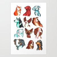 Brush Breeds Compilation Art Print