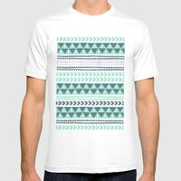 Winter Stripe Mens Fitted Tee White SMALL