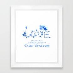 love quote wall art  Framed Art Print