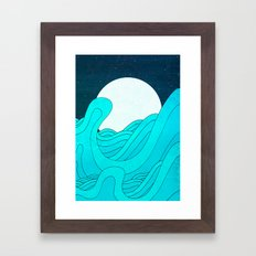 The Moon and the Sea Framed Art Print