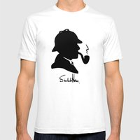 World's Greatest Detecti… Mens Fitted Tee White SMALL