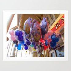 Mickey Balloons Art Print