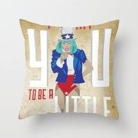For The Monsters Throw Pillow