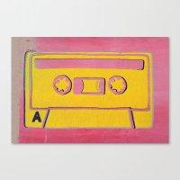 Cassette Tape - Side A Canvas Print