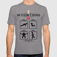 How To Become A Superher… Mens Fitted Tee Tri-Grey SMALL