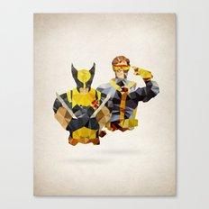 Polygon Heroes - Xmen Canvas Print