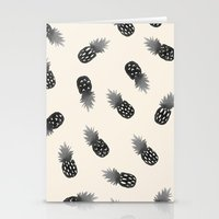 Watercolor Pineapples Bl… Stationery Cards
