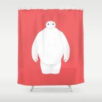 Big Hero 6 - minimal poster Shower Curtain