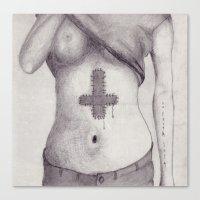 No Faith Left Canvas Print