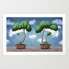 'Bonsai choose own way grow because root strong' Art Print