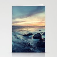 Sunset on the Breakwater Stationery Cards