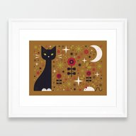 Cat & Mouse  Framed Art Print