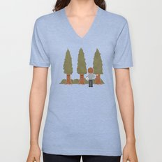 Happy Trees Unisex V-Neck