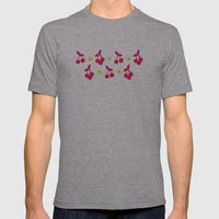 Dots And Cherries Mens Fitted Tee Athletic Grey SMALL