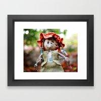 Autumn Scarecrow Framed Art Print