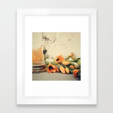 Tulips of orange Framed Art Print