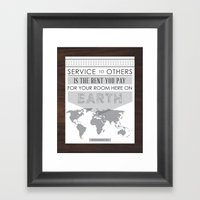 Service To Others Framed Art Print