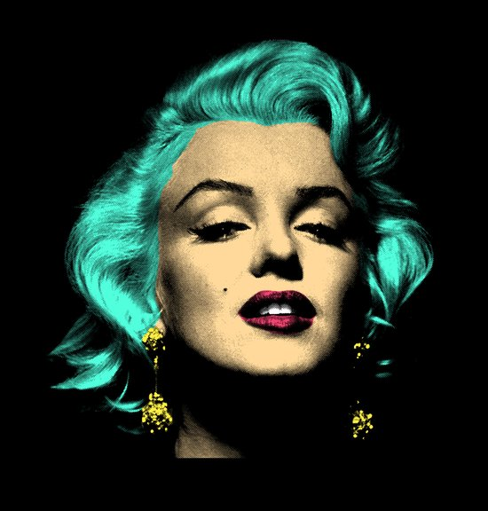 MARILYN BLUE Art Print