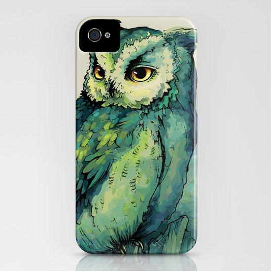 Green Owl iPhone & iPod Case