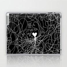 The lines of Love - Black version. Laptop & iPad Skin