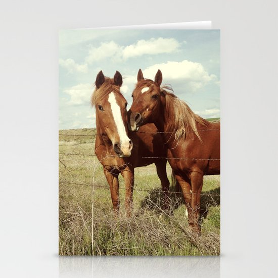 Horse Affection Stationery Card