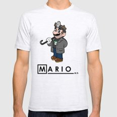 Mario M.D. Mens Fitted Tee Ash Grey SMALL