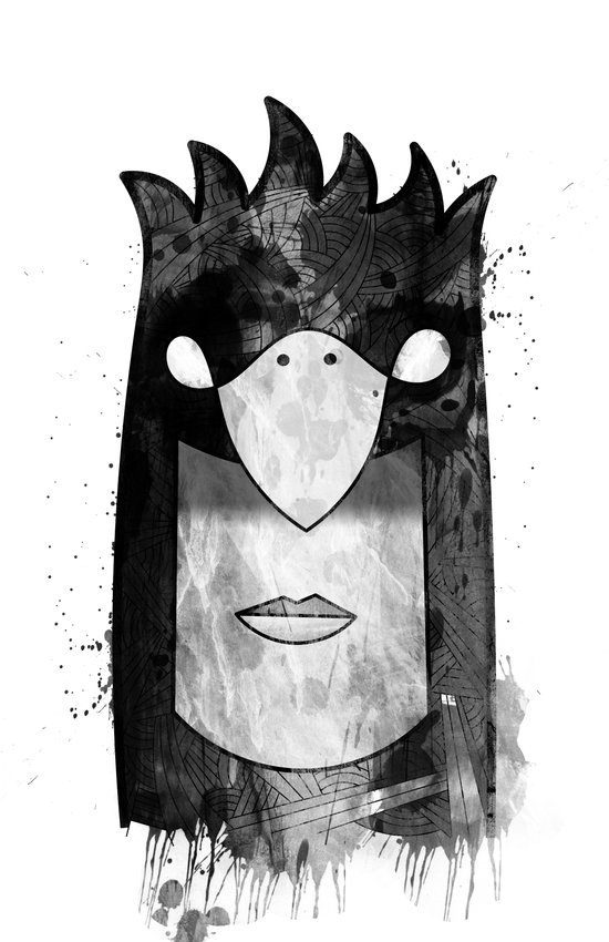 Bird Head Art Print
