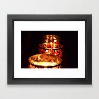 Candle Light Framed Art Print