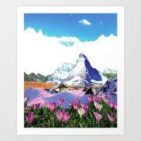 Experiment Am Berg 27 Art Print