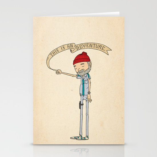 """THIS IS AN ADVENTURE."" - Zissou Stationery Card"