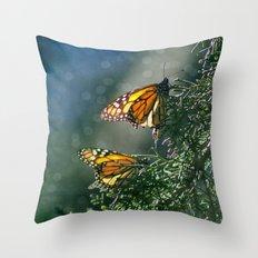 Monarch Moment Throw Pillow