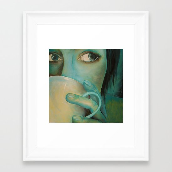 First Cup Framed Art Print
