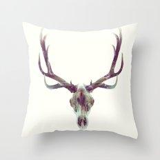 Elk Skull Throw Pillow