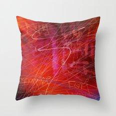 Venetian Graffiti Throw Pillow