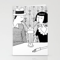 They shared a chocolate shake and some dreams Stationery Cards