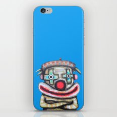 Clown with small advertisement iPhone & iPod Skin