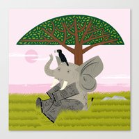 The Elephant And The Eag… Canvas Print