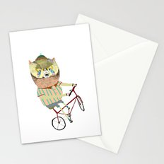 Biking, bike, bikes, biker, bear,  Stationery Cards