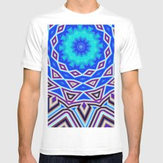 Sacred Geometry White Mens Fitted Tee SMALL