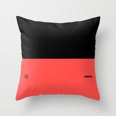 Infrared Black Throw Pillow