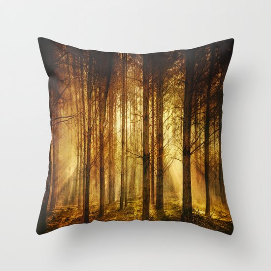Golden Nature. Throw Pillow