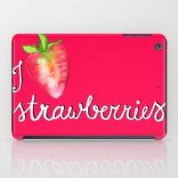 I Heart Strawberries iPad Case