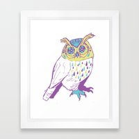 The second owl Framed Art Print