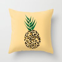Leopard Pineapple Picture Throw Pillow
