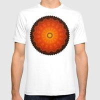 Velvet Sunflowers Motif … Mens Fitted Tee White SMALL