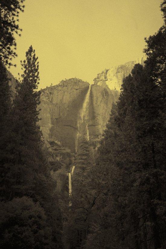 Yosemite Falls Tin Yellow Art Print