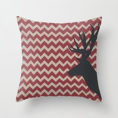 Deer Head V.5 Throw Pillow